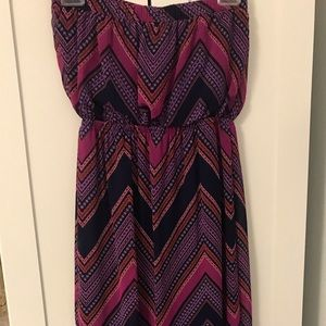 Express multicolor maxi dress